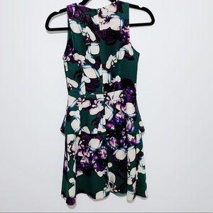 Banana Republic Floral Peplum Dress Size 00Petite